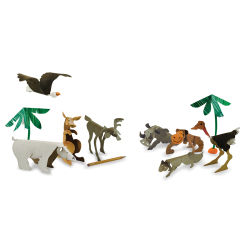 Roylco Chipboard Sculptures - Wild Animal Sculptures, Pkg of 24