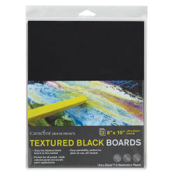 "Crescent Textured Black Art Boards - Pkg of 3, 8"" x 10"""