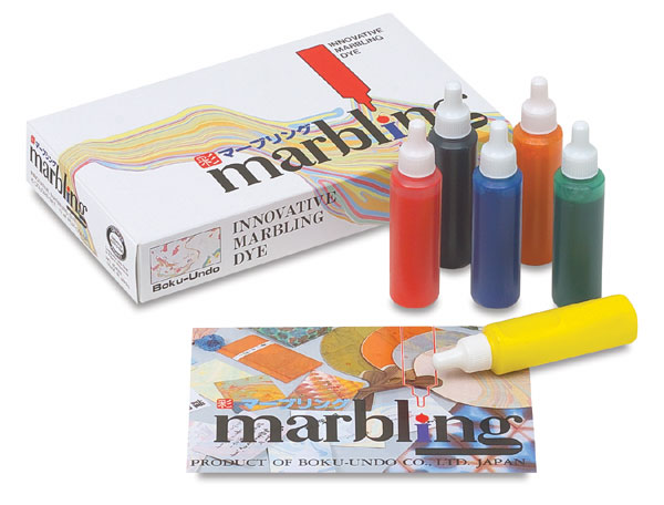 Aitoh Boku-Undo Suminagashi Marbling Set - Set of 6 Colors