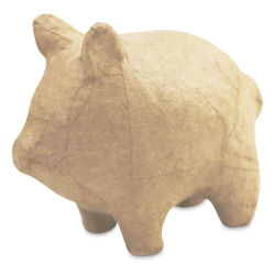 DecoPatch Small Paper Mache Animal - Pig