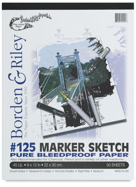 Borden & Riley #125 Marker Sketch Pads
