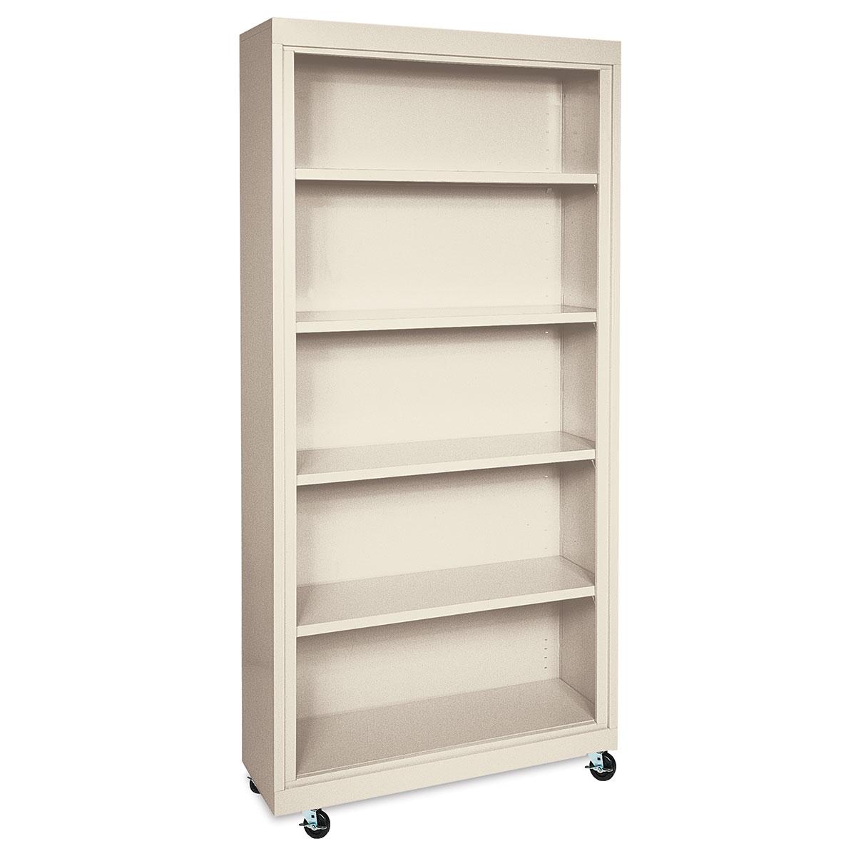 Sandusky Lee Mobile Bookcase - 36 x 78 x 18, Putty