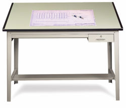 Safco Professional Drafting Table - 37-1/2'' x 60'', Light Green, Top Only