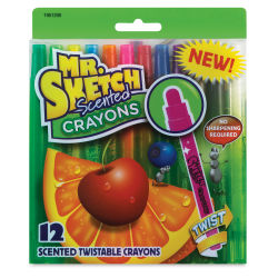Mr. Sketch Scented Twistable Crayons - Set of 12