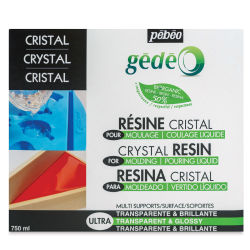 Pebeo Gedeo Bio-Based Resin - Crystal Resin, 750 ml