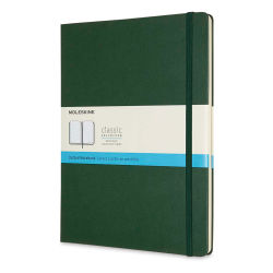 "Moleskine Classic Hardcover Notebook - Metallic Green, Dotted, 9-3/4"" x 7-1/2"""
