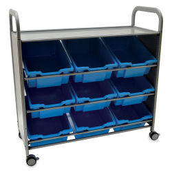 Gratnells Callero Plus Tilted Tray Cart - Royal Blue