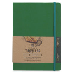Pentalic Recycled Traveler's Sketchbook - 8-1/4'' x 5-7/8'', Green