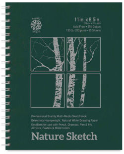 Pentalic Nature Sketch Book - 11'' x 8-1/2'', 50 Sheets