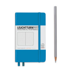 Leuchtturm1917 Notebook - Pocket Notebook, Azure, Dotted, 6'' x 3-1/2''