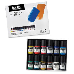 Liquitex Acrylic Gouache - Essentials Set of 12, 22 ml