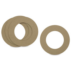 Paper Accents Chipboard Wreath Rings - 6'', Pkg of 4