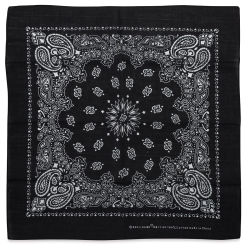Carolina Paisley Bandana - Black