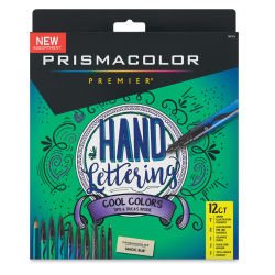 Prismacolor Hand Lettering Set - Cool Colors, 12-Piece Set