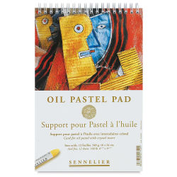 Sennelier Oil Pastel Card Pad - 6-1/4'' x 9-1/2'', 12 Sheets