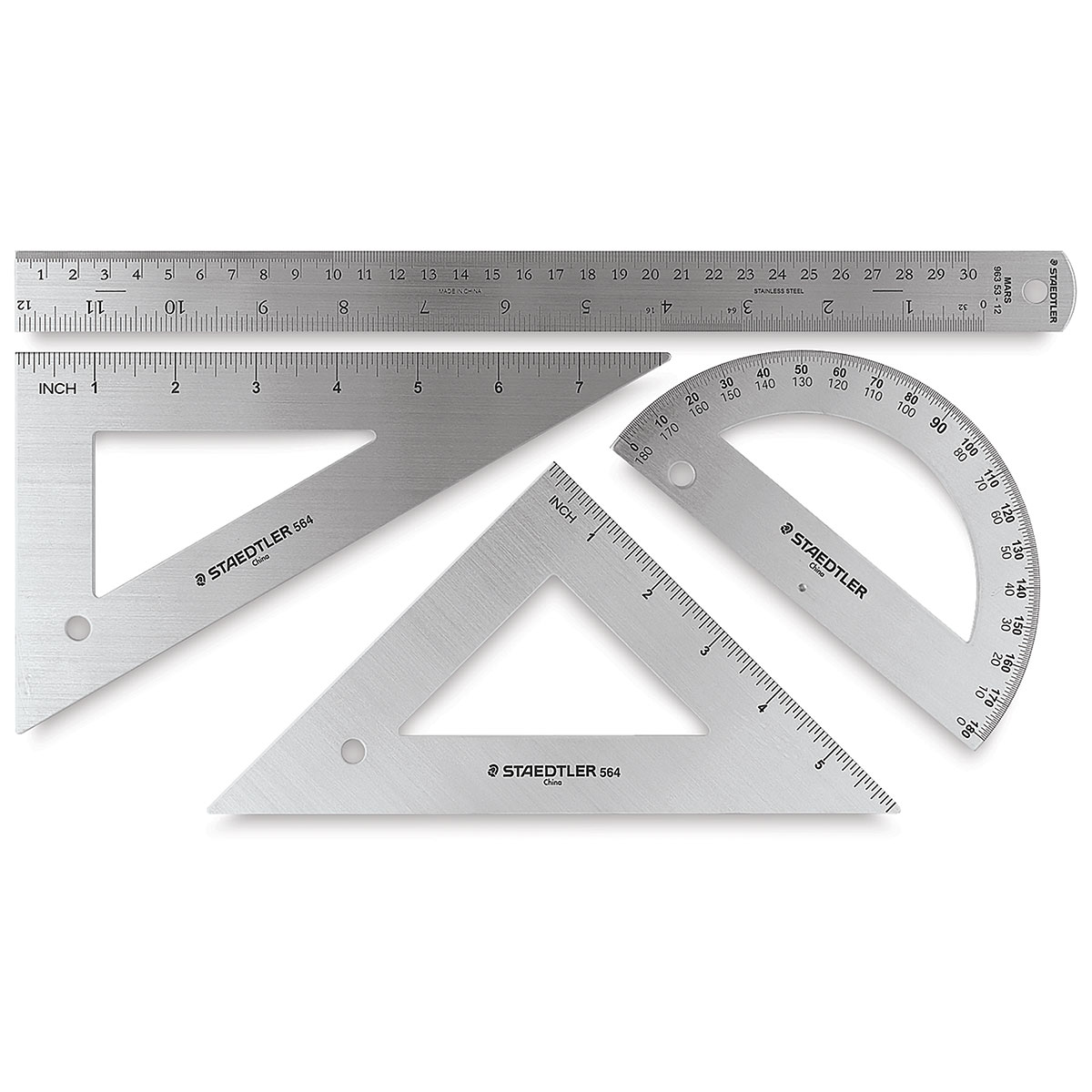"""Plein Air 12/"""" T-Square And Triangles Drafting Set"""