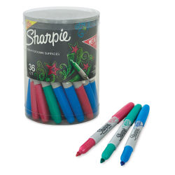 Sharpie Metallic Fine Point Marker - Set of 36 (Emerald, Ruby, and Sapphire)