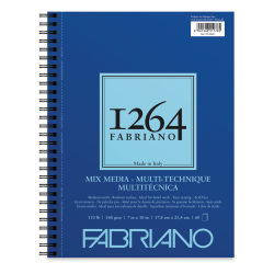 "Fabriano 1264 Mixed Media Paper Pad - 10"" x 7"", 110 lb, 60 Sheets"