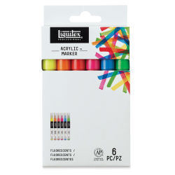 Liquitex Paint Marker - Flourescent Colors, 2mm Tip, Set of 6