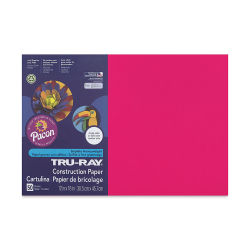 Pacon Tru-Ray Construction Paper - 12'' x 18'', Scarlet, 50 Sheets