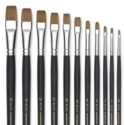 Blick Masterstroke Finest Red Sable Brushes - Brights, Long Handle