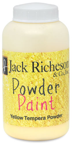Richeson Powder Tempera Paint - Yellow, 1 lb Jar
