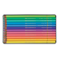 Holbein Artists' Colored Pencils - Pastel Tones, Set of 12, Tin Box