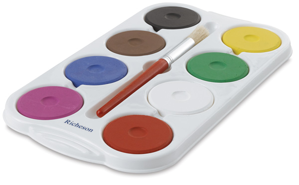 Richeson Tempera Cakes and Sets - Set of 8, Assorted Colors