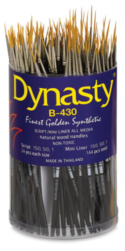 Dynasty Finest Golden Synthetic Brush Set - Set of 144