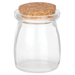 "Craft Decor Glass Jar - Cork Lid, 3"" H x 2-1/10"" W"