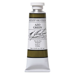 M. Graham Artists' Oil Color - Azo Green, 37 ml tube