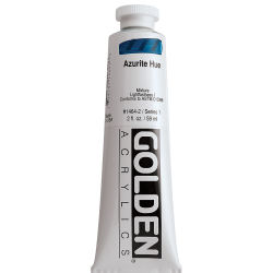 Golden Heavy Body Artist Acrylics - Azurite Historic Hue, 2 oz Tube