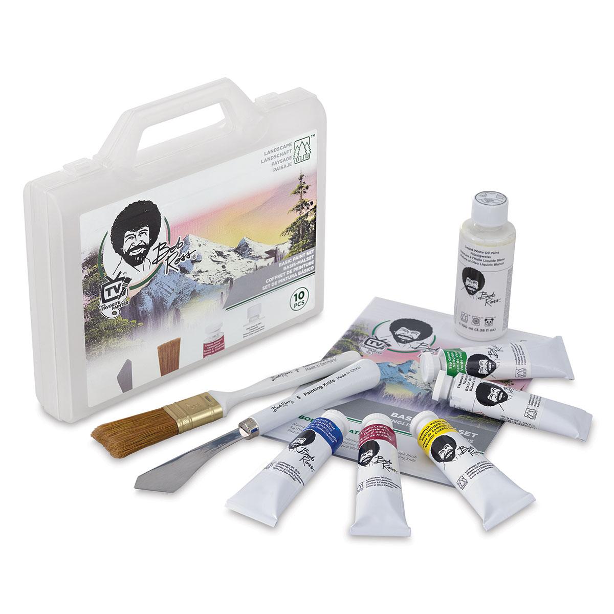 The Little Shop Peinture bob ross basic paint set