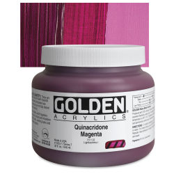 Golden Heavy Body Artist Acrylics - Quinacridone Magenta, 32 oz Jar