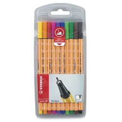 Stabilo Point 88 Fineliner Pen Set - Assorted Colors, Wallet , Set of 10