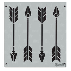 Stencil1 Stencil - Arrow, Repeat Pattern, 5-3/4'' x 6''