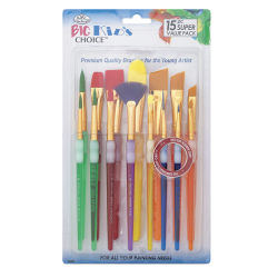 Langnickel Big Kids' Choice Lil' Grippers Brush Set - Variety Pack, Set of 15