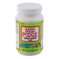 Plaid Mod Podge Wash Out for Kids - Gloss Finish, 8 oz jar (Front)