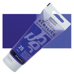 Pebeo High Viscosity Acrylics - Opaque Light Ultramarine Blue, 100 ml, Swatch with Tube