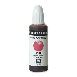 Vallejo Liquid Watercolor - Coral Red, 32 ml