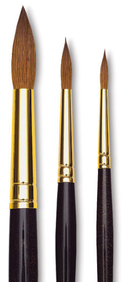 Da Vinci Maestro Kolinsky Sharp Round Brushes