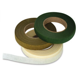Lia Griffith Floral Tape - Pkg of 3 rolls, Moss Green, Gold, and Cream