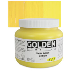 Golden Heavy Body Artist Acrylics - Hansa Yellow Medium, 32 oz Jar