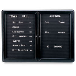 Letterboard Message Center, Black