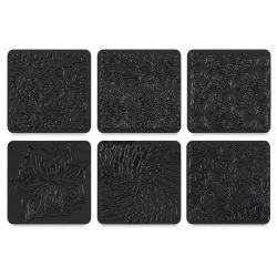 Cedar Canyon Rubbing Plates - Set of 6, Floral Fantasy