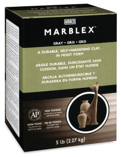 Marblex Gray Clay 5lb  Outside of Package