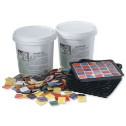 Mosaic Coaster Kit - Set of 12, 4'' x 4'', Square
