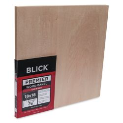 Blick Premier Wood Panel - 18'' x 18'', 7/8'' Traditional Profile, Cradled