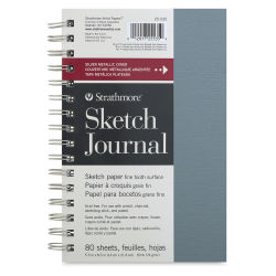 Strathmore Metallic Sketch Journal - Metallic Silver, 8-1/2'' x 5-1/2''
