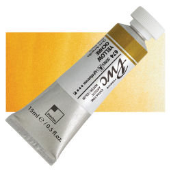 PWC Extra Fine Professional Watercolor - Yellow Ochre, 15 ml, Swatch with Tube
